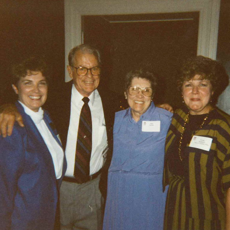 Linda with John Buhner, former IUPUI Dean of Faculties, his wife Betty and Linda's former colleague Shirley Nusbaum.