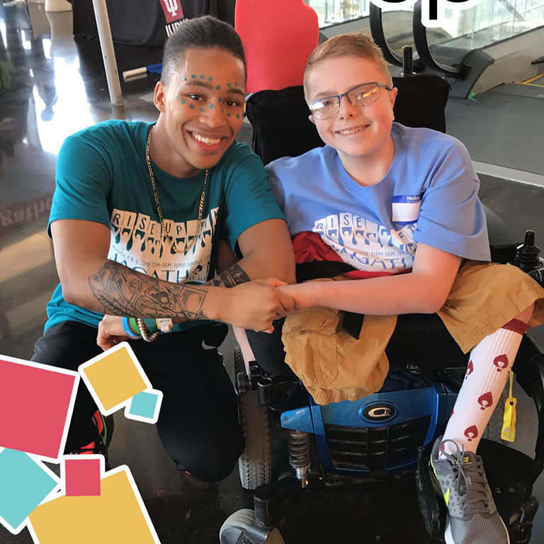 Will Smith with a Riley patient during Jagathon 2018.